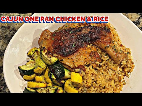 ONE PAN CHICKEN AND RICE | CAJUN CHICKEN RECIPE | CREATIVE HEALTHY MEALS ON A BUDGET
