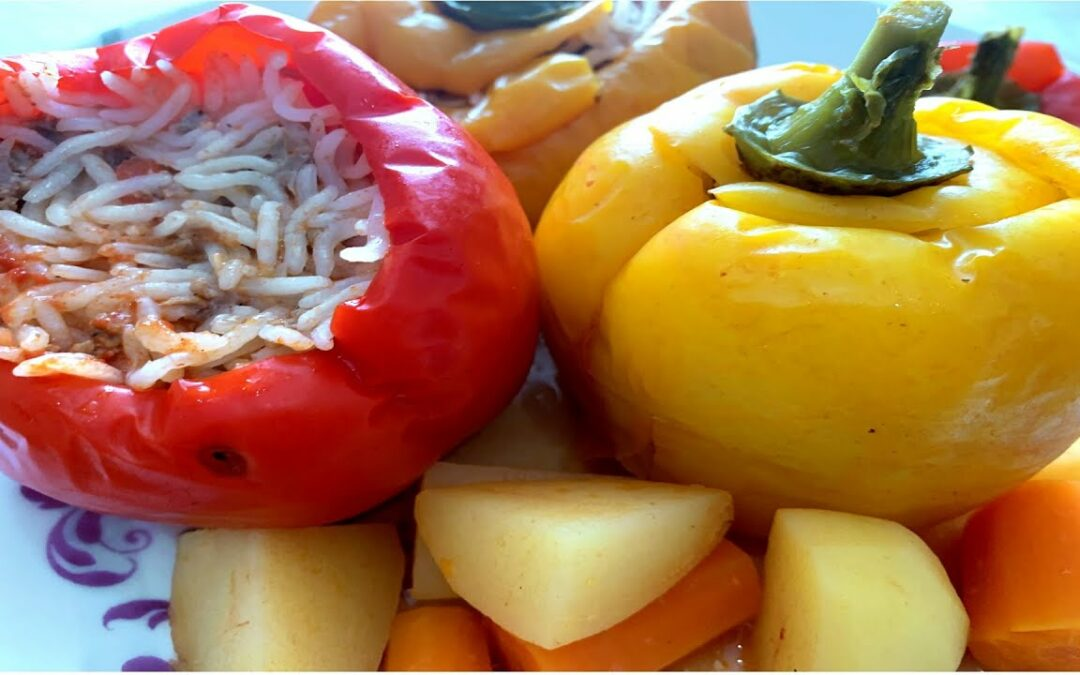 Paprika with Rice , 10 Minute Recipe , Dinner Recipe