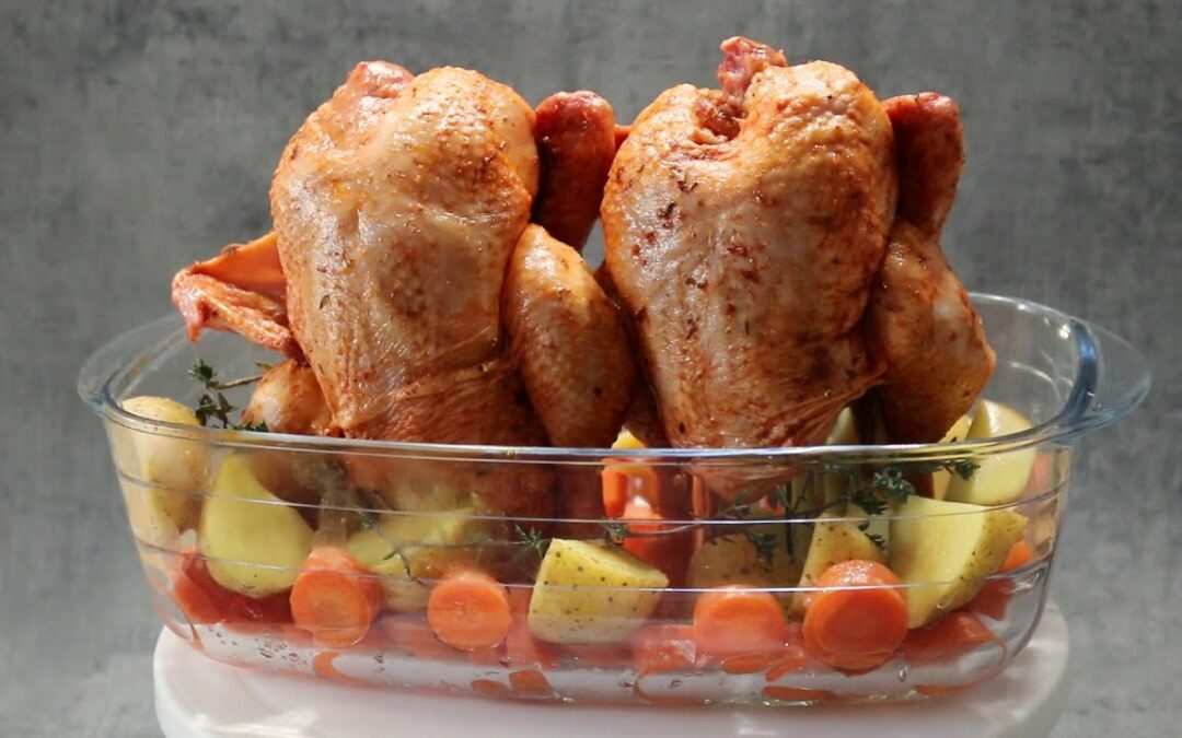Tasty Can POUSSIN CHICKEN Recipe – CRISPY outside and JUICY inside | cutting paprika