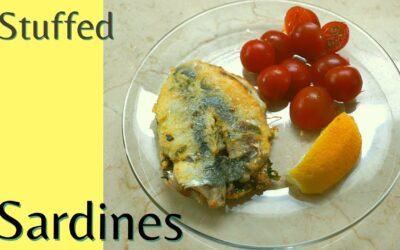 The BEST stuffed SARDINES with garlic, parsley, coriander, paprika and cumin, by Cakes and Tips
