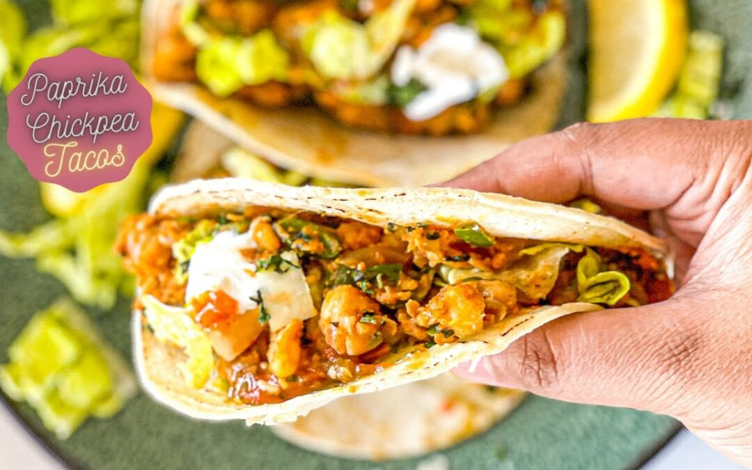 Paprika Chickpea Taco- BEST Healthy Vegetarian/Vegan taco for taco tuesday-Spicy, flavorful & tasty!