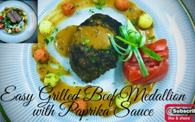 Easy Grilled Beef Medallion in Paprika Sauce